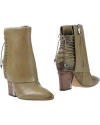 Sam Edelman Ankle Boots khaki - Lyst