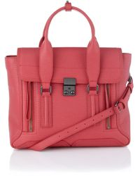 3.1 Phillip Lim Raspberry Leather Pashli Satchel - Lyst