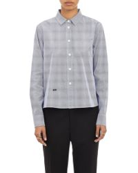 Band of Outsiders - Tally Mark Cropped Oxford Cloth Shirt - Lyst
