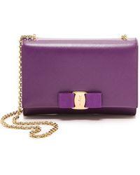 Ferragamo Miss Vara Mini Bag - Grape - Lyst