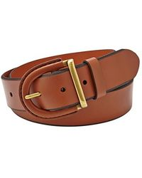 Fossil Leather Covered Buckle Belt - Lyst