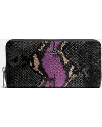 COACH | Accordion Zip Wallet In Exotic Embossed Leather | Lyst