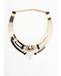 Missguided Walburga Embellishment Detail Collar Necklace Gold - Lyst