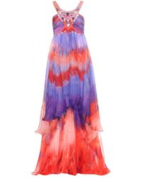 Emilio Pucci Embellished Silk Chiffon Dress - Lyst