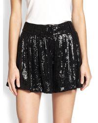 Diane von Furstenberg Aleah Sequined Silk Shorts - Lyst