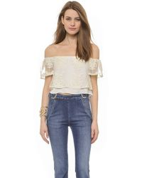 Madison Marcus Stella Crop Top - Navy - Lyst