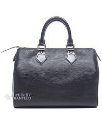 Louis Vuitton Preowned Black Epi Leather Speedy 25 Bag - Lyst
