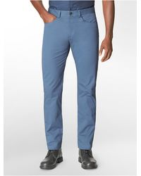 Calvin Klein White Label Slim Fit 4-Pocket Sateen Pants - Lyst