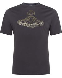 Vivienne Westwood Safety Pin Orb T-Shirt - Lyst
