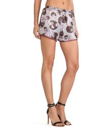 Anna Sui Moonlight Floral Print Shorts - Lyst