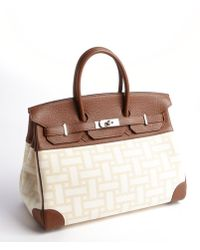 Hermès Preowned Birkin Buffalo/Moisse 35Cm brown - Lyst