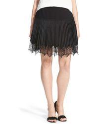 Chelsea28 Nordstrom | Lace Trim Pleat Miniskirt | Lyst
