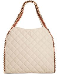 Big Buddha | Quilted Gold Ball Tote | Lyst