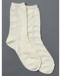 Gap | Chevron Pointelle Crew Socks | Lyst