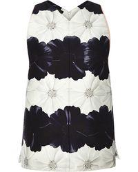Mother Of Pearl Bloom Stripe Jaden Top floral - Lyst