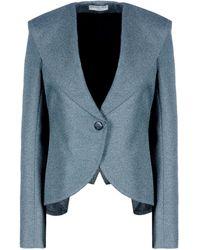 Balenciaga Blue Waisted Jacket - Lyst
