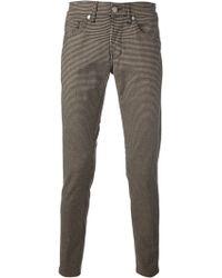 Dondup Gingham Skinny Jeans - Lyst