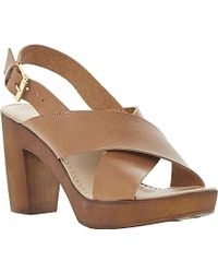 Dune Fraggel Leather Clog Heel Sandals - For Women - Lyst