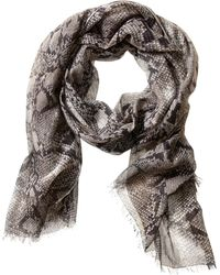 Banana Republic Heritage Python Scarf Grey Combo - Lyst