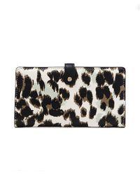 Diane von Furstenberg Voyage Slim Continental Leather Wallet - Lyst