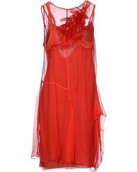 Vera Wang | Short Dress | Lyst