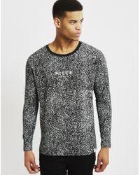 Nicce London | Speckle Long Sleeve T-shirt Black | Lyst