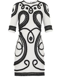 Dolce & Gabbana Embroidered Dress white - Lyst