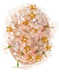 Simone Rocha - Floral Beaded Brooch - Lyst