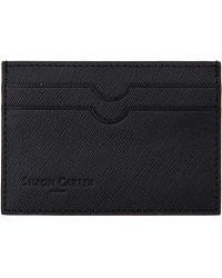 Simon Carter - Black Saffiano Leather Card Holder - Lyst