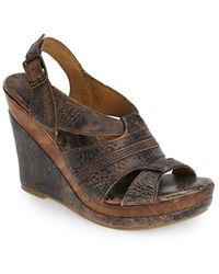 Bed Stu 'Gayle' Wedge Sandal black - Lyst