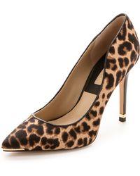 Michael Kors Collection Avra Leopard Haircalf Pumps  Leopard - Lyst