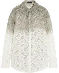 Burberry Prorsum - Dip-Dyed Lace Shirt - Lyst