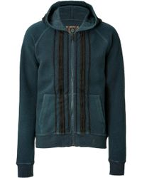 Marc Jacobs Cotton Striped Front Hoodie blue - Lyst