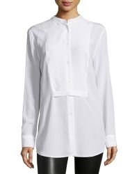 Equipment   Mandel Bright Button-front Top   Lyst