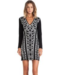 Blessed Are The Meek Black Geometry Dress - Lyst
