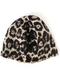 Sonia Rykiel   Leopard Knit Beanie   Lyst