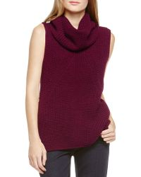 Two By Vince Camuto - Sleeveless Turtleneck Jumper - Lyst