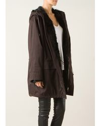 Givenchy Brown Cotton Parka with Hood - Lyst