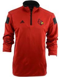Adidas  Louisville Cardinals Sideline Coach Quarter-zip Pullover - Lyst