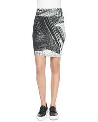 Helmut Lang Method Printed Jersey Pencil Skirt - Lyst