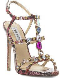 Steve Madden Majestic Jewelled Sandals - For Women - Lyst