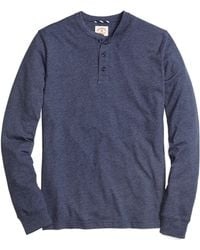 Brooks Brothers Enzyme Washed Henley - Lyst