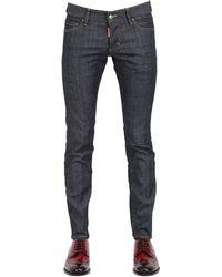 DSquared2 18cm Slim Fit Dark Stretch Denim Jeans - Lyst