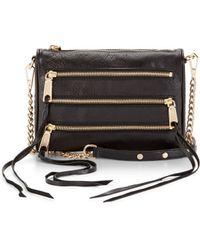 Rebecca Minkoff Mini 5-zip Black - Lyst