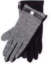 Ralph Lauren - Birdseye Wool Touch Gloves - Lyst