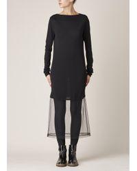 Maison Margiela | black Black Long-sleeve Sweater Dress | Lyst