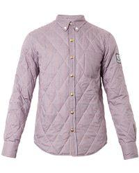 Moncler Gamme Bleu Quilted Cotton Overshirt - Lyst