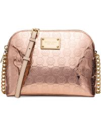Michael Kors Michael Cindy Large Dome Crossbody pink - Lyst