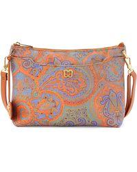 Eric Javits Joy Tapestry Leather Shoulder Bag - Lyst