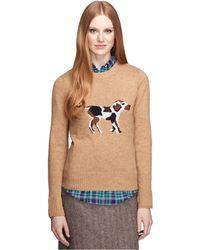 Brooks Brothers Wool Blend Crewneck Sweater - Lyst